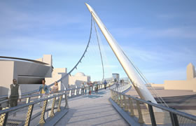 Harbor Drive Pedestrian Bridge Rendering