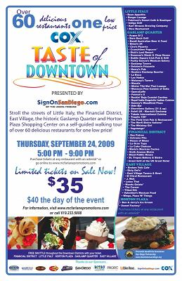 Taste of Downtown San Diego, 92101 - Dont miss it!