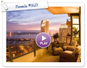 Panoramic Western Views from Pinnacle #2601 in the Marina District in Downtown San Diego!
