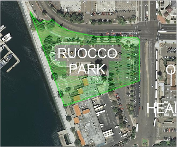 New Waterfront Park in Downtown San Diego- Ruocco Park - Located North of Seaport Village!