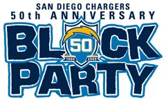 San Diego Chargers 50th Anniversary Block Party 2009 in the Gaslamp District!