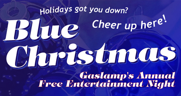 Blue Christmas in the Gaslamp District in Downtown San Diego 2009!