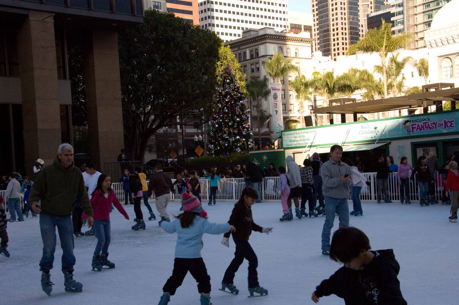 Ice Skating In Downtown San Diego Our Own Rockefeller