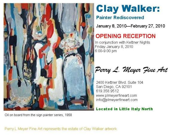 Clay Walker Exhibition in The Little Italy District in Downtown San Diego!