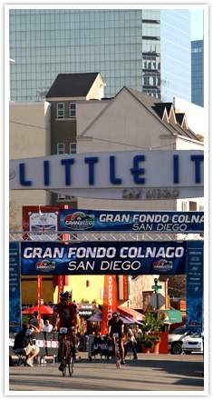 Gran Fondo Colnago Ride 100 miles in San Diego - With start in the Little Italy District in Downtown!