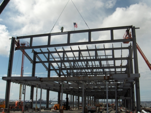 The Broadway Pier Crusie Ship Terminal - Framework Completed!