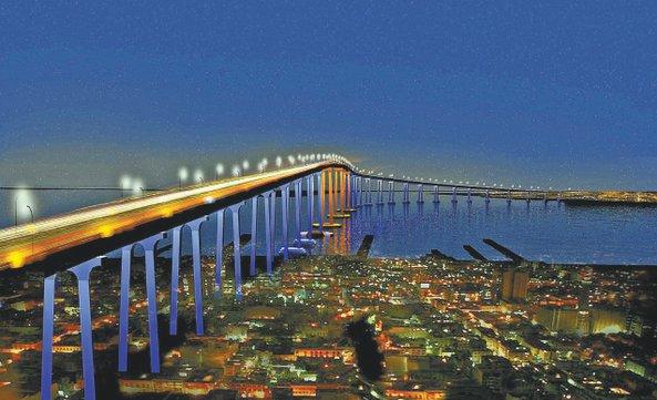 New Lights Brightens Up the Coronado Bridge in Downtown San Diego