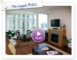 """Elegant West Facing Home in """"The Legend"""" Next to Petco Park – For Rent"""