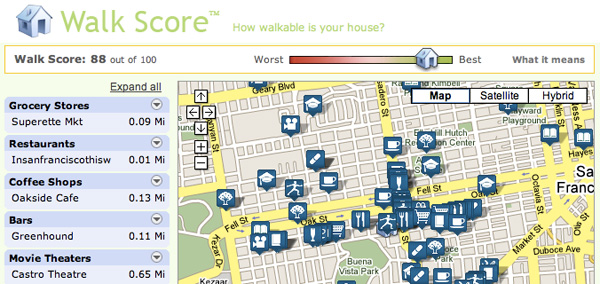What's Your Neighborhood's WalkScore?