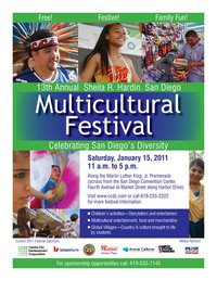 Get together right here.Multicultural Festival in Downtown San Diego
