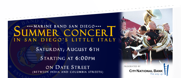 Summer Concert in the Little Italy District