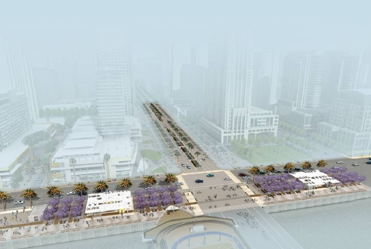 North Embarcadero Visionary Plan 1 - Construction is about to start