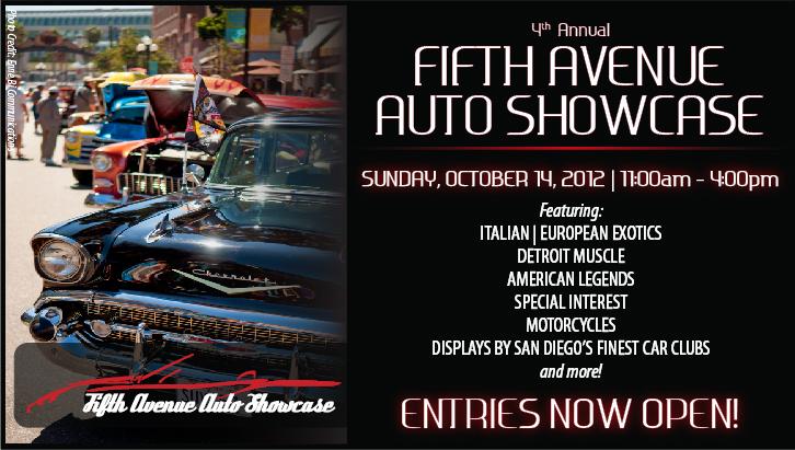 Fifth Avenue Auto Showcase 2012 in the Gaslamp Quarter